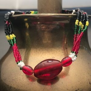 Jewelry - Black ⬛️ Red ♥️ Green ♻️ and Yellow ⚠️ necklace!